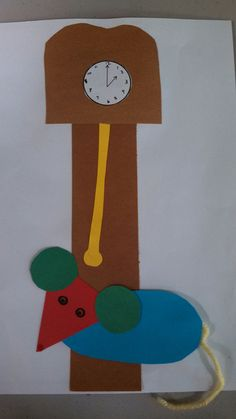 Clock and mouse craft for storytime about mice 1/29/13