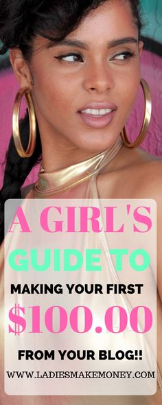 A girl's guide to making your next $100 online from your blog. A Girl's Guide to making your first $100 online with your blog, how to make money online, how to make money from your blog,. how to make money as a stay at home mom. Learn how to start a blog that will help you make money online. Use brands, sponsored posts, ads and affiliate marketing to make money from your blog. Making money with affiliate marketing is the best passive income for bloggers. Learn how bloggers make money from…
