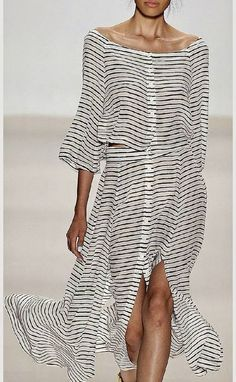 Black And White Striped Maxi Dress by Sabo Skirt. I kind of love it