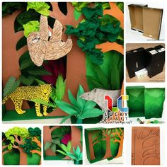 Джунгли . Обсуждение на LiveInternet - Российский Сервис Онлайн-Дневников Preschool Projects, Projects For Kids, Art Projects, Crafts For Kids, Arts And Crafts, Rainforest Crafts, Rainforest Project, Ecosystems Projects, Diorama Kids