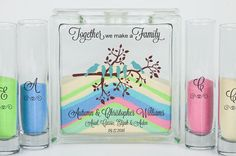 Blended Family Wedding Unity Sand Ceremony Set - Unity Candle Alternative - Together We Make a Family - Woodland or Bird Wedding Theme - Summer Wedding Many blended families are choosing to include a Unity Sand Ceremony on their wedding day, and would like their children to