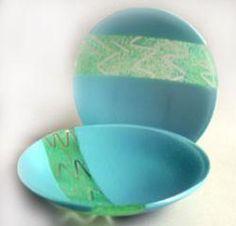 fused glass bowl set
