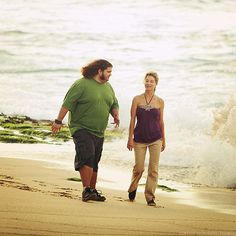 So these are people from Lost were running. Libby (the girl): Doesn't that feel good?! Hurley (the dude): Well, I kinda prefer breathing.     I am Hurley when I run