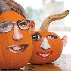 Zany Halloween Pumpkin Faces! No mess! #halloween
