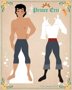 prince eric paper doll 1 | paper dolls by cory
