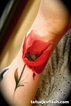 65 Tatuajes de la Flor de Amapola