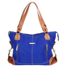 timi & leslie - Kate Cobalt/Saddle - I just pre-ordered this bag off of Amazon. I'm in love with the color. It comes with some REALLY AWESOME bag accessories! Check it out!