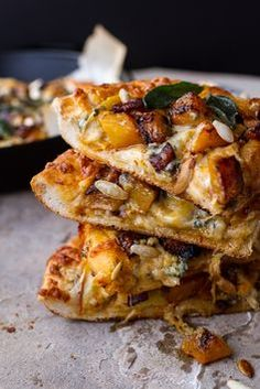 Sweet 'n' Spicy Roasted Butternut Squash Pizza w/Cider Caramelized Onions + Bacon   halfbakedharvest.com @hbharvest