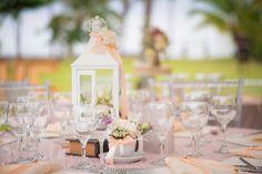 White vintage table decoration