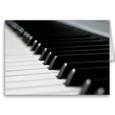 Piano Keys - Classical Music Themed Greeting Card