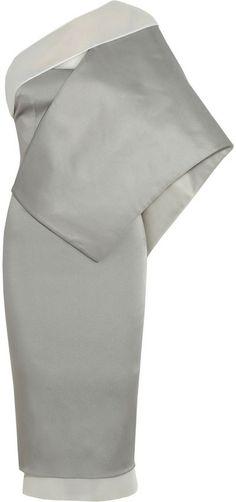 Estéban Paris Cortazar Asymmetric stretch-satin cady dress on shopstyle.com