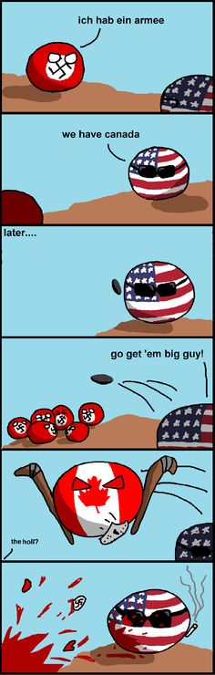 "The Incredible Canada - ""That's my secret, eh. I'm always playing hockey."" #Polandball #Avengers"