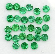 2.71 Cts Natural Emerald Round Cut Calibrated 3 mm Lot 25 Pcs Faceted Loose Gemstones Natural Emerald, Natural Ruby, Semi Precious Gemstones, Loose Gemstones, Emerald Gemstone, Just Amazing, Jewelry Sets, 21 Days, Nature
