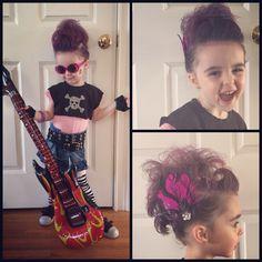 Punk rock toddler diy costume