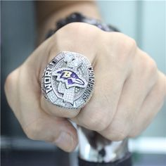 Custom 2012 Super Bowl XLVII Baltimore Ravens Championship Ring