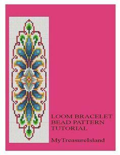 Bead+Loom+Vintage+Motif+6+Bracelet+Pattern+por+MyTreasureIsland,+$5.50