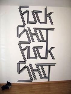 Eye-Catching Minimalist Street Art Made Using Masking Tape » Design You Trust. Design, Culture & Society.