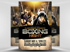 Boxing Night 2 Flyer Template 1