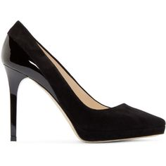 Evony Black, Womens patent leather pump with 90mm heel in black Bally