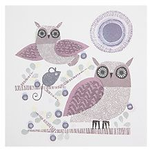 Buy ArtPress Owls and Mouse Greeting Card Online at johnlewis.com