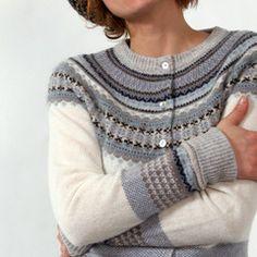 Fairisle Cardigan from Eribe - Scottish knits ......... inspirational colour choices