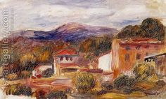 House And Trees With Foothills by Pierre Auguste Renoir
