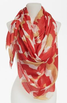Diane von Furstenberg 'Hanover' Wool & Silk Scarf available at #Nordstrom