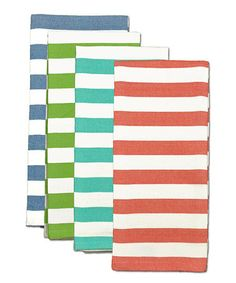 Loving this Cabana Stripe Heavyweight Dish Towel Set on #zulily! #zulilyfinds