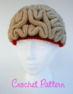 Crochet Pattern Brain Beanie Brain Hat Crochet Brain | Etsy Crochet Halloween Costume, Halloween Hats, Cute Crochet, Knit Crochet, Crochet Hats, Crochet Things, Beanie Pattern Free, Free Pattern, Amigurumi Patterns