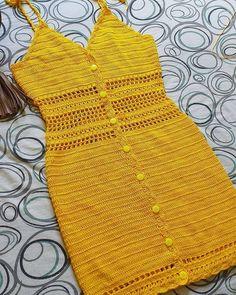Crochet Dresses 64359 Easy crochet summer dress for women Pull Crochet, Crochet Crop Top, Diy Crochet, Crochet Bikini, Unique Crochet, Beautiful Crochet, Crochet Summer Dresses, Dress Summer, Crochet Magazine