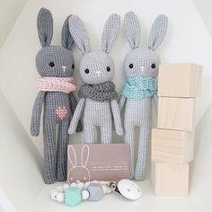 Conejos con bufanda