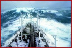 """The North Pacific - a mountain of water - (Photography by Karsten Petersen ©) The """"Stolt Surf"""" in an unusual strong storm in the North Pacific. Rogue Wave, Sailing Gear, Big Sea, Berenice Abbott, Stormy Sea, Water Photography, Best Songs, Classical Music, The Locals"""