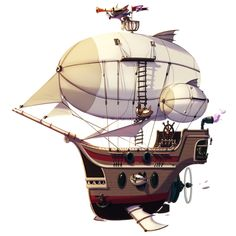 WizardCats on Behance Prop Design, Boat Design, Design Art, Steampunk Airship, Steampunk Pirate, Tattoo Barco, Drawing Sky, Wizard Cat, Casual Art