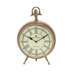 Add Old English charm with a classically designed clock. An antique design with sleek details, the Classic Brass Table Clock is a timeless essential. A cream face with large black roman numerals and a ...  Find the Classic Brass Table Clock, as seen in the Why Parisians Were the First Bohemians Collection at http://dotandbo.com/collections/why-parisians-were-the-first-bohemians?utm_source=pinterest&utm_medium=organic&db_sku=95040