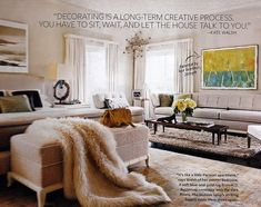 Kate Walsh's bedroom InStyle magazine