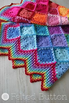 Happy Harlequin Blanket By Susan Carlson - Free Crochet Pattern - (ravelry)
