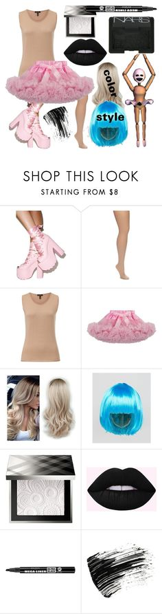 """Minireena - FNaF SL"" by dappershadow ❤ liked on Polyvore featuring Y.R.U., Hue, ESCADA, ASOS, Burberry, Bourjois, Marc Jacobs and NARS Cosmetics"