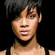 Retrato Photoshop    Rihanna