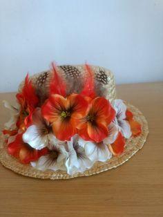 Dior icon Hat Boater Head Celebrities Runway Dress Jumpsuit Flowers Tulle COOL #Handmade #PartyEveryDayGoodLookWedding