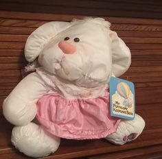 1986 Fisher Price Puffalump White Bunny Rabbit with Pink Dress + Keepsake Book Gold Baby Nursery, Fisher Price Baby Toys, Baby Girl Names Unique, Baby Nursery Organization, Girl Themes, Childhood Days, Baby Girl Birthday, 90s Kids, Baby Blanket Crochet