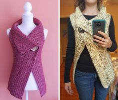 Crochet Peekaboo Button Up Wrap