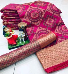 Fabric Details:Pure Soft Banarasi Patola Saree With Beautiful Weaving Saree With Heavy Weaving South Indian Sarees, Indian Silk Sarees, Ikkat Silk Sarees, Soft Silk Sarees, Red Saree Wedding, Wedding Gifts For Women, Fancy Buttons, Pink Saree, Saree Collection