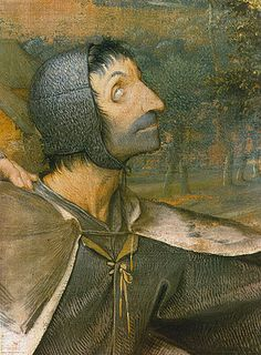 Pieter Brueghel d.Ä.: Das Gleichnis von den Blinden. 1568. Detail (Kopf eines blinden Mannes).