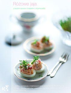 Jaja faszerowane z serkiem kozim i mięsem kraba
