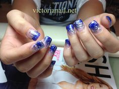 White And Silver Nails Blue Nail Designs Cute Prom Design Arts Ideas Dresses