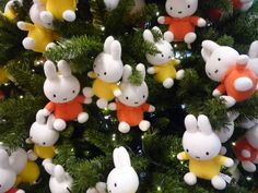 Miffy at Christmas time. Christmas Is Coming, Christmas Time, Christmas Ornaments, Miffy Lamp, Female Rabbit, Bunny Nails, Bunny Plush, Dutch Artists, Weird And Wonderful