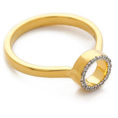 Monica Vinader Naida Mini Circle Open Ring ($255) ❤ liked on Polyvore featuring jewelry, rings, circle jewelry, cut out jewelry, 18 karat gold jewelry, circle ring and pave diamond ring