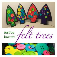 Homemade Tree Ornament for Preschool Christmas - Teaching 2 and 3 Year Olds Christmas Crafts For Kids To Make, Christmas Activities For Kids, Preschool Christmas, Felt Christmas, Christmas Projects, Craft Activities, Preschool Crafts, Christmas Themes, Winter Christmas