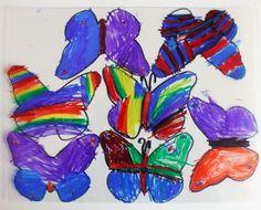 Kiddie Crafts - Shrinky Dink Butterfly Suncatchers - Cutesy Crafts