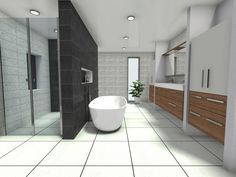 Sleek lines in a contemporary bathroom. Contemporary Style Bathrooms, Bathroom Styling, Clutter, Create Yourself, Minimalism, Inspiration, Home, Biblical Inspiration, Ad Home